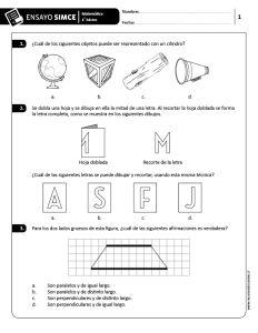 Ensayos SIMCE Matemática 4˙ básico