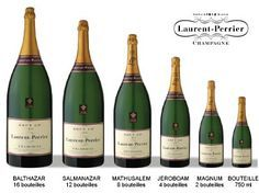 Champagne Laurent-Perrier Brut Grosses Bouteilles, Magnum, Jeroboam, Mathusalem, Salmanazar, Balthazar