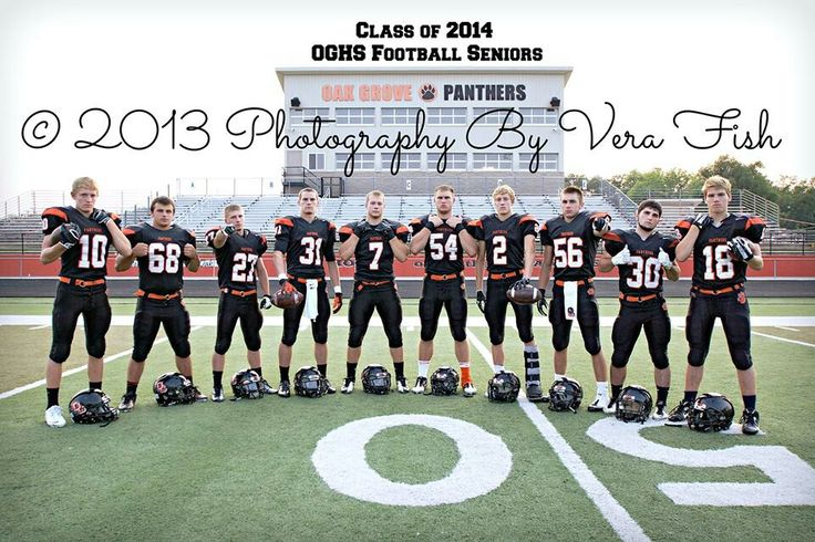 Senior football players
