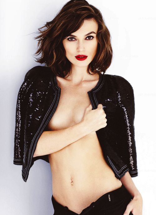 """It's Mario Testino and he's been trying to get my clothes off for years. It sort of seemed rude to keep saying no. So it happened"".  Keira"