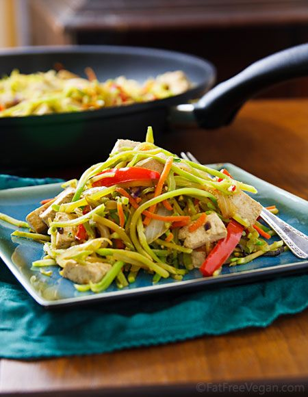 Broccoli Slaw Stir-Fry with Tofu is super-easy, super-healthy, and still packed with flavor.