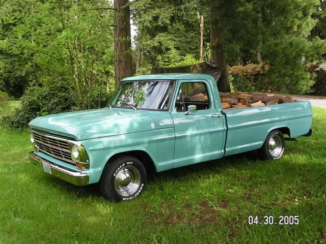 1967 ford pickup truck, I LOVE old trucks. Me and my fiancé will have one one day :)