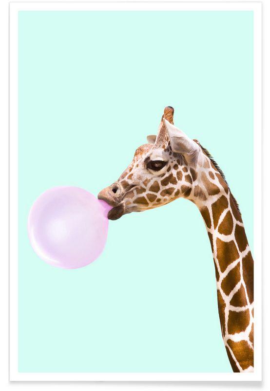 Giraffe als Premium Poster von Paul Fuentes | JUNIQE