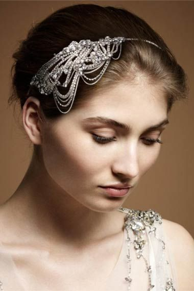 headband by Jenny Packham: White Flowers, Wedding Hair Pieces, Jennypackham, Bridal Hair, Black Diamonds, Headpieces, Wedding Hair Accessories, Bridal Headbands, Jenny Packham