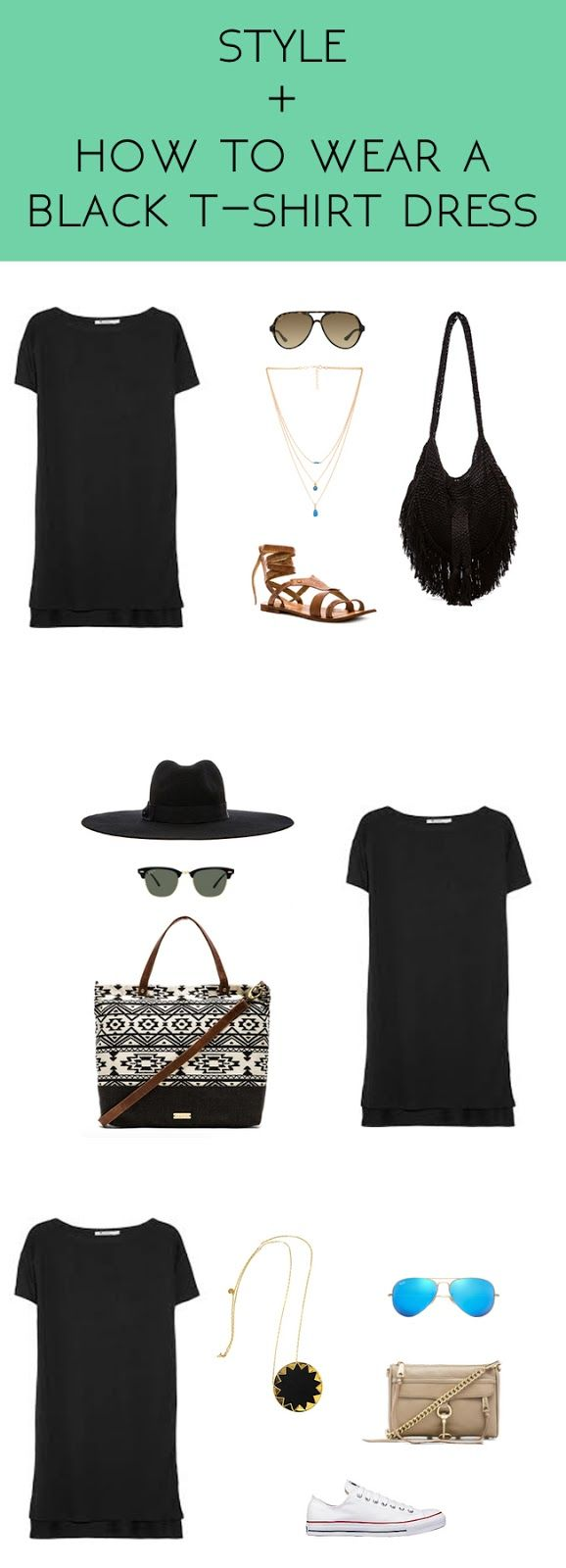 Black t shirt goes with - Whimsical Charm Style How To Wear A Black T Shirt Dress