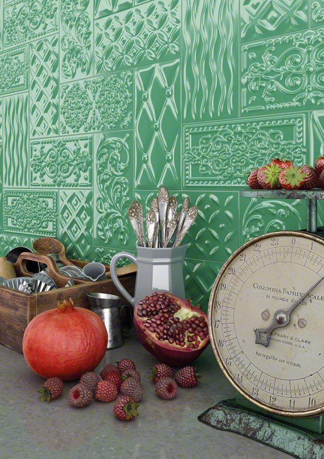 Ambientes revestimiento pasta roja: RIVOLI 10X20   Vives Azulejos y Gres