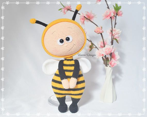 Bonnie Bee Doll Crochet Bee Pattern Amigurumi Bee Pattern