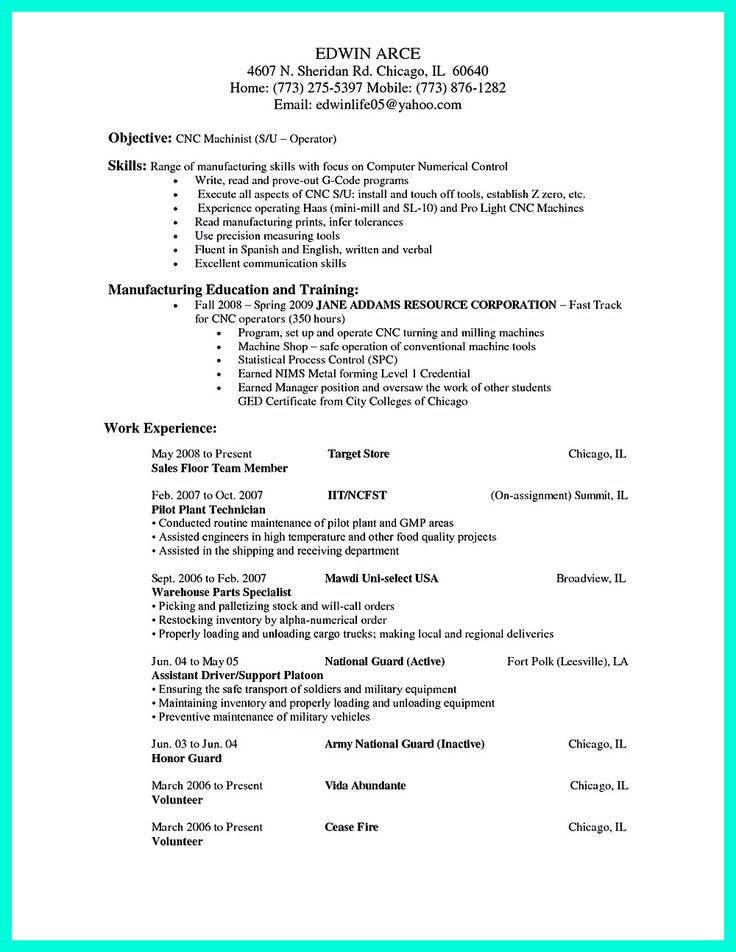 Writing Your Qualifications In Cnc Machinist Resume A Must Resume Template Indesign Resume Template Resume Skills