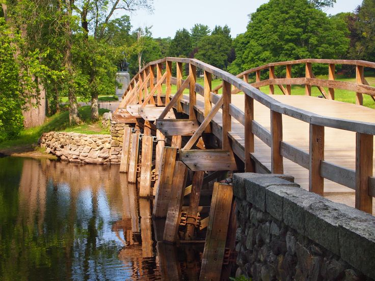 Old North Bridge in Concord, MA, where the colonists met the British in the first battle of the American Revolution.