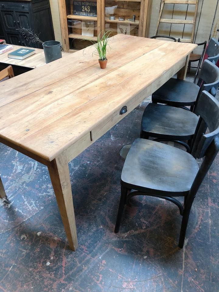 Table De Ferme En Bois Debut Xxeme Par Le Marchand D Oublis Table De Ferme Ferme En Bois Bois