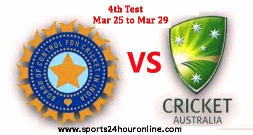 India vs Australia Fourth Test Live Cricket Score, Online Streaming Mar 25 - Mar 29.IND vs AUS 4th Test Live Preview Prediction Result Team Squad Scoreboard