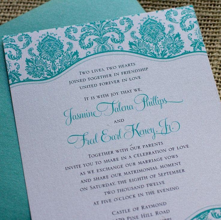 Best 25+ Tiffany Wedding Invitations Ideas On Pinterest