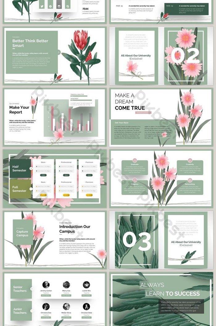 Plant Creative Culture Fashion Elegant Literary Ppt Template Powerpoint Pptx Free Download Pikbest Dizajn Karty Dizajn Prezentacii Maket Prezentacii