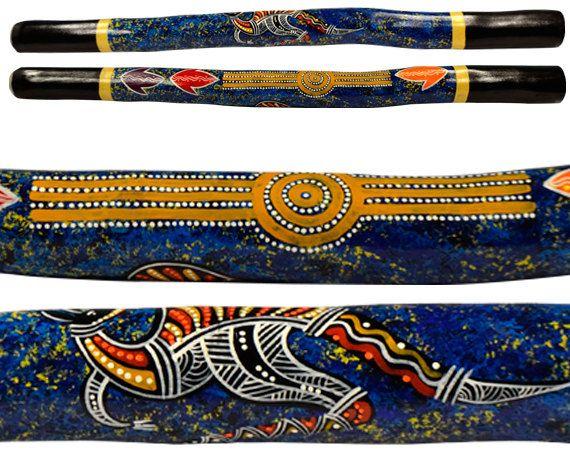 Hand Painted Didgeridoo 1 m Mallee Gum by AboriginalOzArt on Etsy