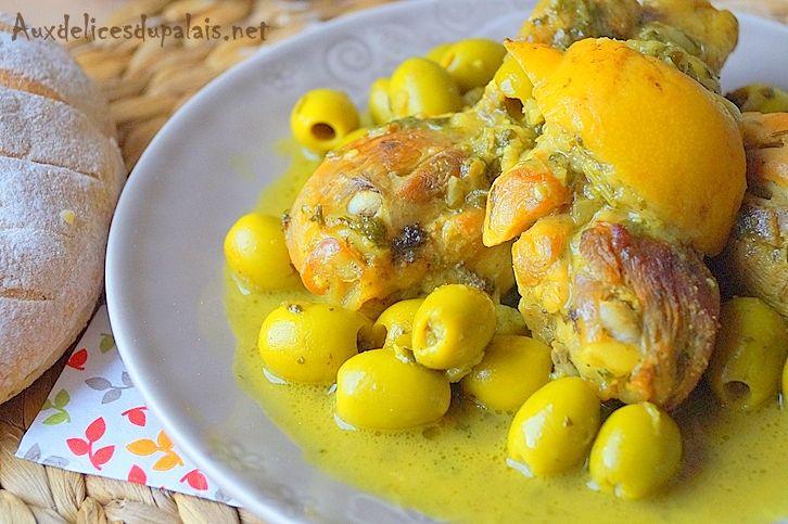 Tajine de poulet au citron confit & olives Tajine de poulet aux citrons confits et aux olives pour ce jour du mois de Ramadan 2016, un savoureux plat m