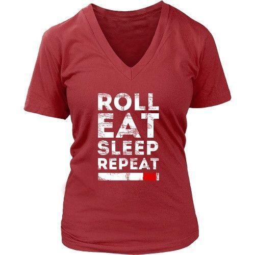 Brazilian Jiu Jitsu Roll Eat Sleep Repeat T-shirt