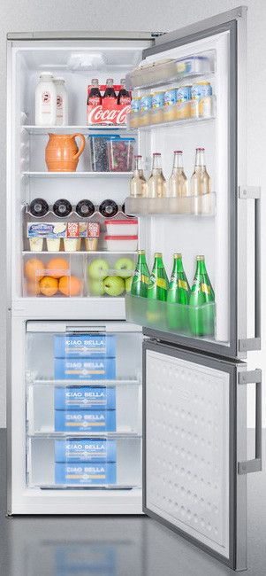 Summit 24 Inch Counter Depth Bottom-Freezer Refrigerator with cu. Capacity Spill-Proof Glass Shelves Door Storage Clear Crispers Wine Shelf and Interior ... & 16 best Fridge freezer images on Pinterest | Freezer Freezers and ...