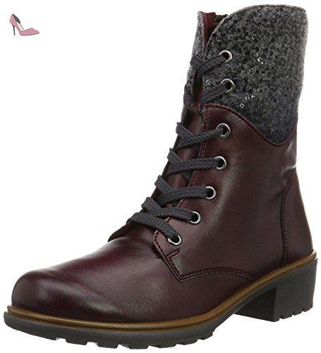 Rohde  Cesine, Bottes mi-hauteur avec doublure chaude femme - Rouge - Rot (Bordeaux 42), 36 - Chaussures rohde (*Partner-Link)