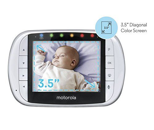 Motorola Video Baby Monitor with 2 Cameras 3.5 Inch LCD Color Screen Remote Camera Pan Tilt Zoom