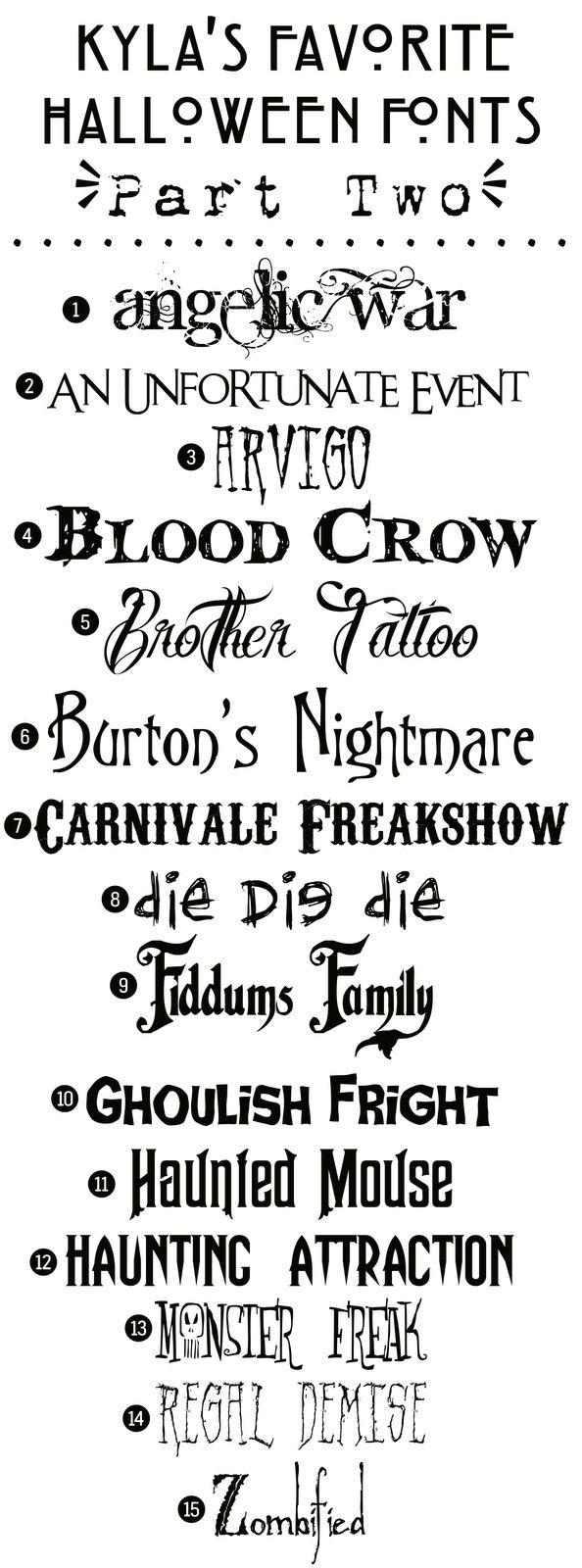Funky Polkadot Giraffe: Kylas Favorite Free Halloween Fonts: {Part Two}