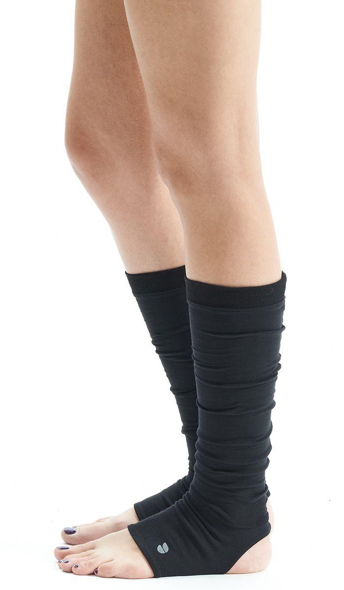 Black Yoga Spats / Yoga Leg Warmers /