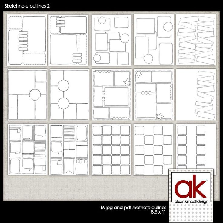 Allison Kimball - Sketchnote Journal blank template page - pdf download