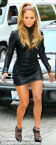 Three is the magic number: Jennifer Lopez stepped out in a trio of glamorous outfits on Monday