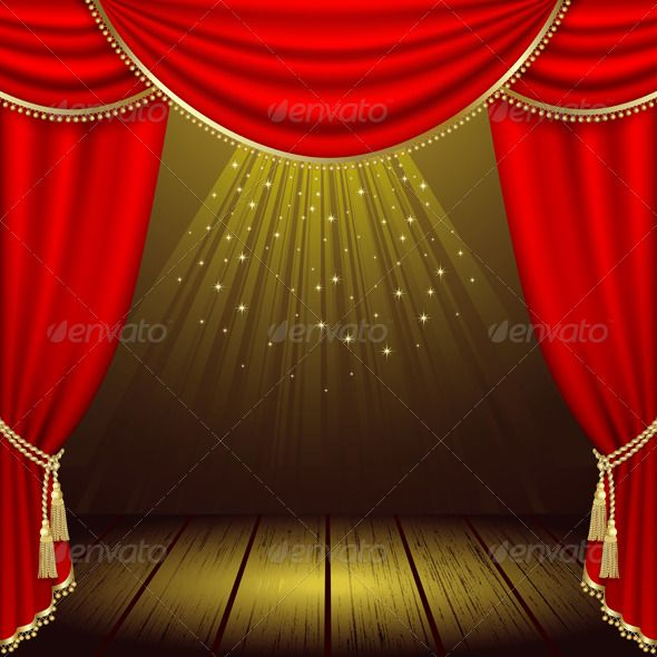 Theater stage — Vector EPS #light #decoration • Available here → https://graphicriver.net/item/theater-stage-/158082?ref=pxcr