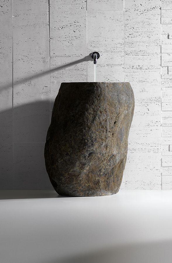 Monolith Stone - Lavabo monolitico in pietra - h2ostone