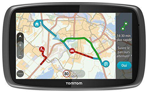 Tomtom Go 61 (6 Pouces) Cartographie Monde, Trafic et Zones de Danger à Vie (1FC6.002.22): 1 Ecran tactile 6» (15cm) Carte du monde (152…