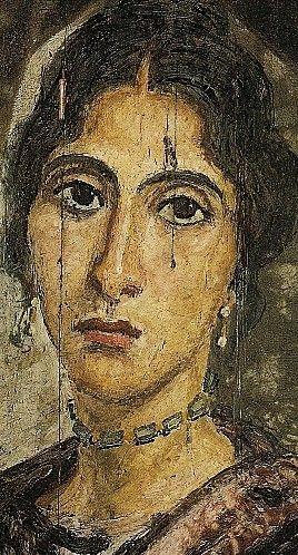 Portrait funéraire de femme - Site de Hawara, Égypte (période romaine)