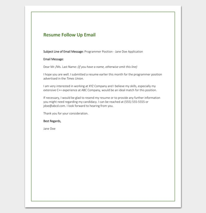 follow up letter template  10 formats samples