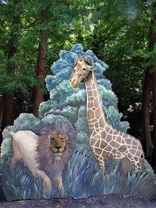 giraffe cardboard cutout too funny animal baby jungles theme funny