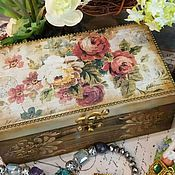 """Шкатулка - короб """"Le boutique des fleurs"""" декупаж, винтаж, декор"""