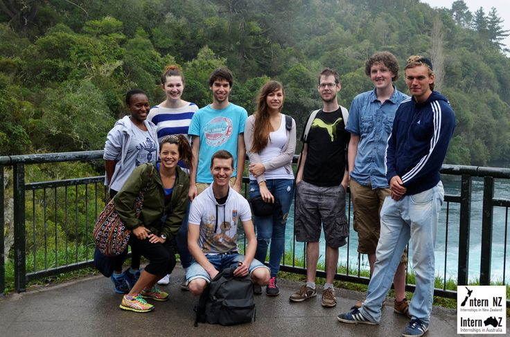 This is a group photo from our weekend trip to Rotorua and Taupo last weekend! For internships in NZ: http://www.internnzoz.com #internship #student #travel #newzealand