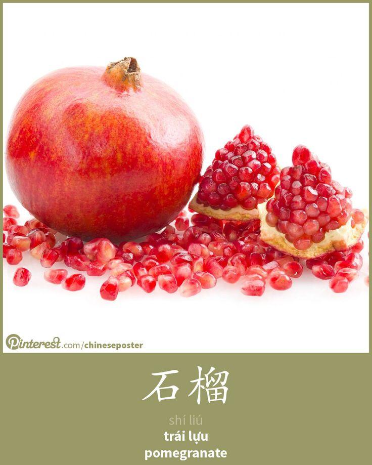 石榴 - shíliú - trái lựu - pomegranate