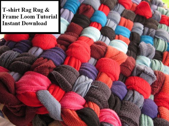 Rug making How to make a rag rug Weaving rag rugs by ChunkyRagRugs