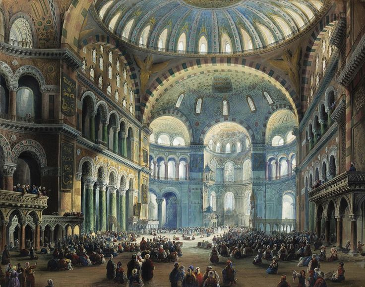 Стамбул, интерьер святой Софии