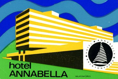 Awesome mid-century design from eastern europe. hotel annabella balaton hungary