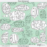 Fijne kletspraat; Fun Dutch tekstballoons by Centani
