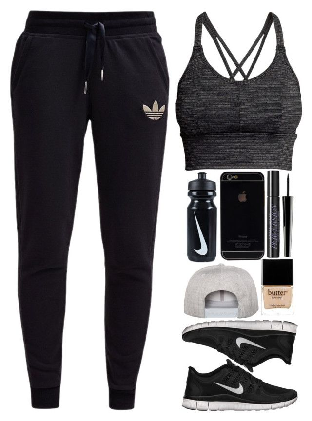 """july 28, 2015"" by inesdinis6 ❤ liked on Polyvore featuring H&M, adidas Originals, NIKE, Flexfit, Urban Decay, Lord & Berry and Butter London"