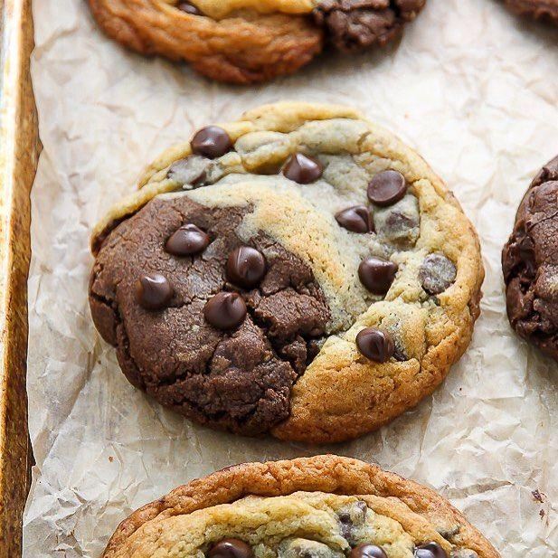 ❤️ Is it a brownie? Is it cookie? Nope! It's a BROOKIE. And it's deeeeeelish  #recipe link in my bio @bakerbynature