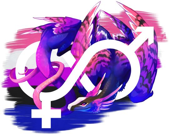 Possibly the most-requested pride dragon, this one's for genderfluid pride :)The others in this series in progress can be found here.This design is also available on TeePublic and Redbubble.