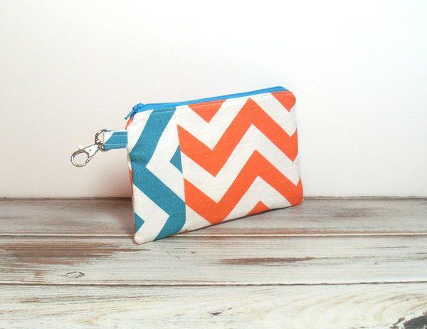Orange and Turquoise Chevron Clutch Bags #clutch #clutchbag #carryclutch…