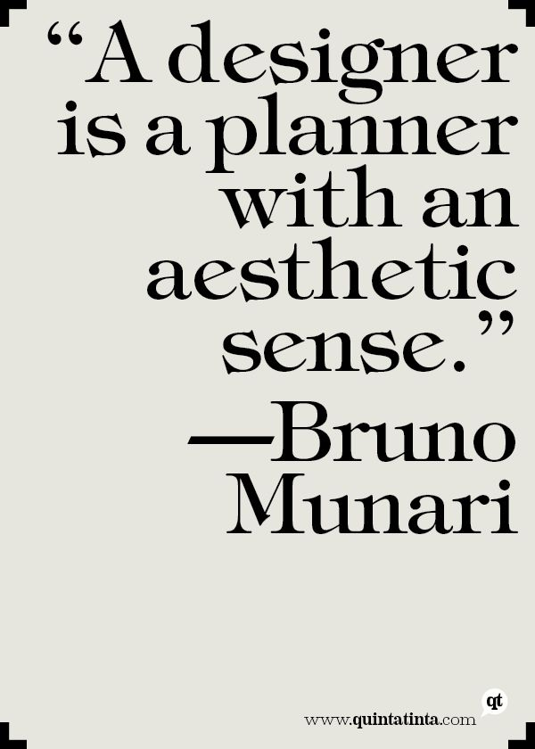 Bruno Munari on Designers and Planners