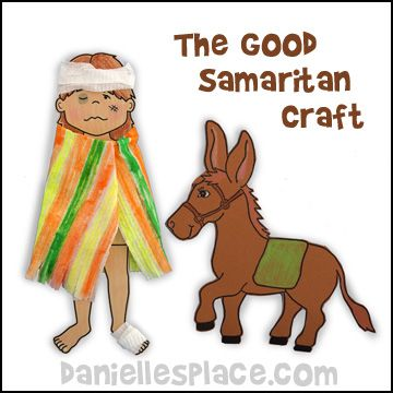 Hurt Man Paper Doll for The Good Samaritan Bible Lesson from www.daniellesplace.com for Children's Sunday School