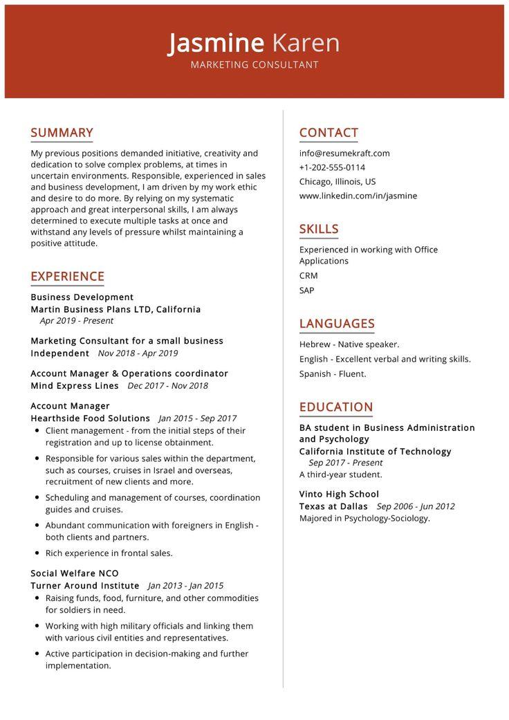 100+ Professional Resume Samples for 2020 ResumeKraft in