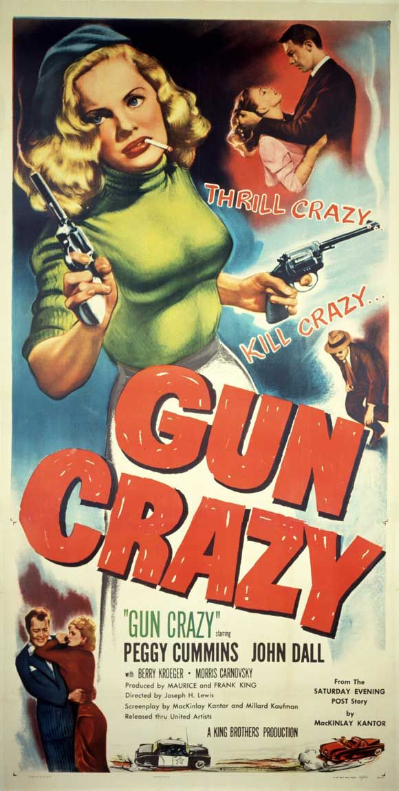 Peggy Cummins, one of noir cinema's most lethal femmes fatales, in Gun Crazy