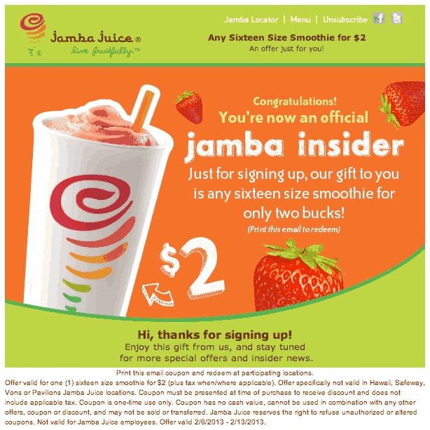 Jamba juice coupon 2018 july