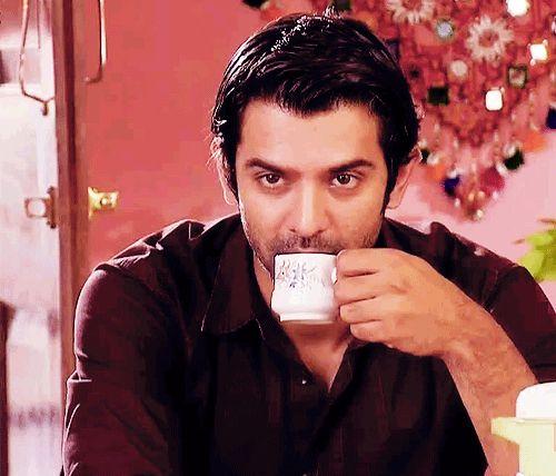 Barun Sobti drinking #tea gif #indiancinema